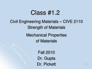 Class #1.2