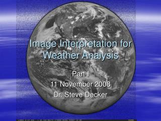 Image Interpretation for Weather Analysis