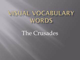 Visual Vocabulary Words