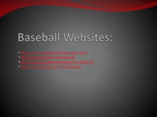 Baseball Websites: