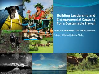 Building Leadership and Entrepreneurial Capacity For a Sustainable Hawaii