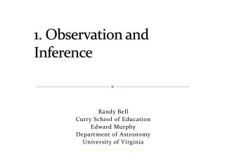 1. Observation and Inference