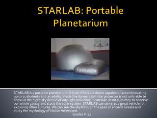 STARLAB: Portable Planetarium