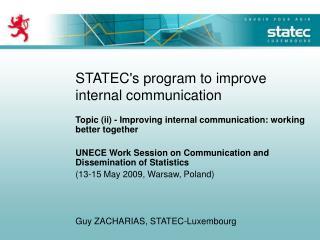 STATEC's program to improve internal communication