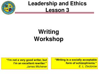 Leadership and Ethics Lesson 3