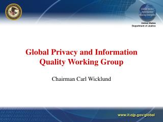 Global Privacy and Information Quality Working Group