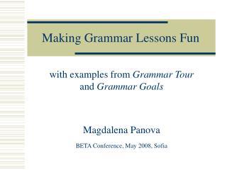 Making Grammar Lessons Fun