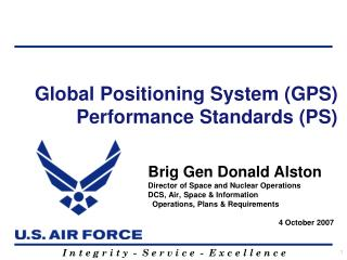 Global Positioning System (GPS)  Performance Standards (PS)