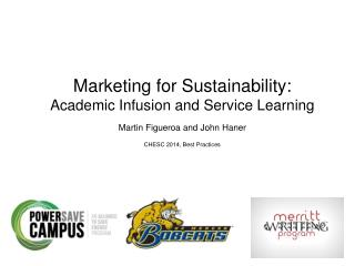 Marketing for Sustainability: Academic Infusion and Service Learning