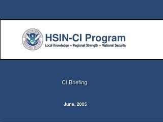 CI Briefing