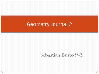 Geometry Journal 2