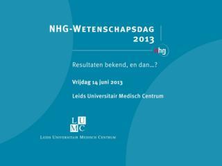 Implementatie van evidence: het NHG en de onderzoeker