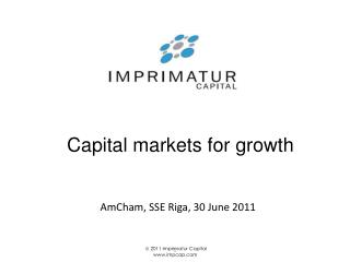 Capital markets for growth