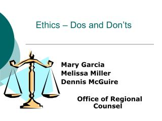 Ethics   Dos and Don ts