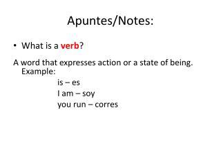 Apuntes /Notes: