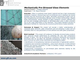 Mechanically Pre-Stressed Glass Elements