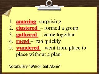 Voc wilson sat alone