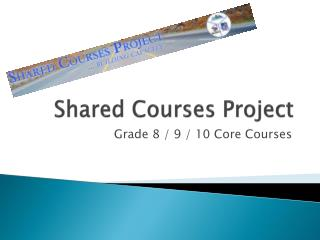 Shared Courses Project