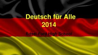 Deutsch für Alle 2014