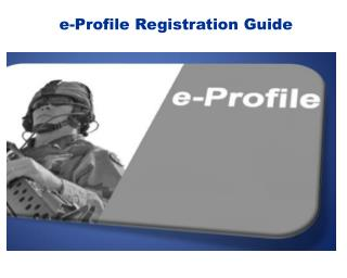 e-Profile  Registration Guide