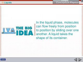 The pressure of a liquid at rest depends only on gravity and the density and depth of the liquid.