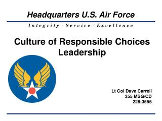 Culture of Responsible Choices Leadership