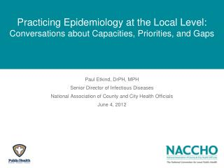Practicing Epidemiology at the Local Level:  Conversations about Capacities, Priorities, and Gaps