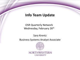 Info Team Update