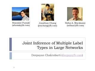 Joint Inference of Multiple Label Types in Large Networks