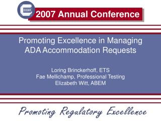 Promoting Excellence in Managing ADA Accommodation Requests