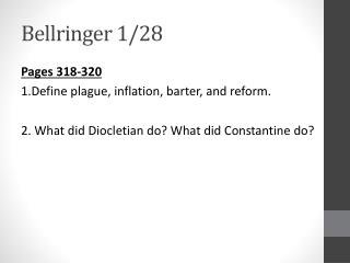 Bellringer  1/28