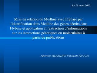 Ambroise Ingold (LIPN Université Paris 13)