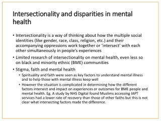 Race And Mental Health