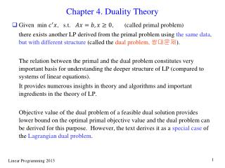Chapter 4. Duality Theory