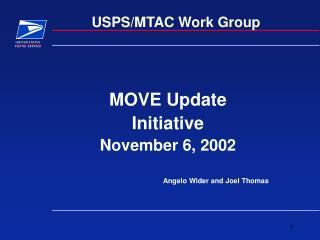 USPS/MTAC Work Group
