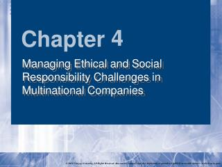 Managing Ethical and Social Responsibility Challenges in Multinational Companies