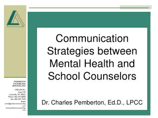 Communication Strategies between Mental Health and School Counselors