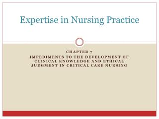 Expertise in Nursing Practice