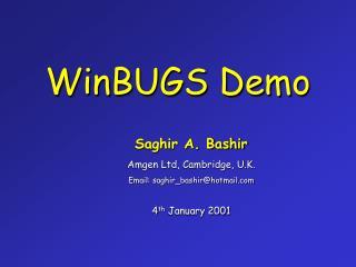 WinBUGS Demo