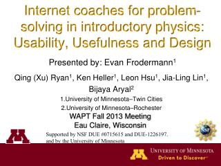 Internet coaches for problem-solving in introductory  physics: Usability, Usefulness and Design