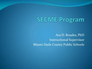 SECME Program