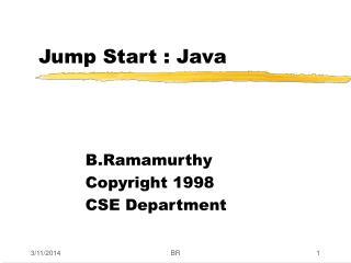 Jump Start : Java