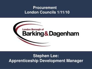 Procurement  London Councils 1/11/10