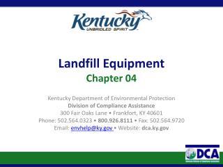 Landfill Equipment Chapter 04