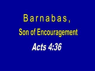 Barnabas,
