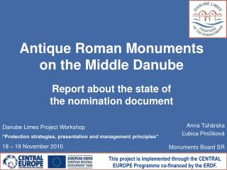 Antique Roman Monuments on the Middle Danube