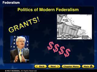 Politics of Modern Federalism