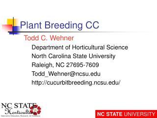 Plant Breeding CC