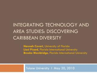 Integrating Technology and Area Studies: Discovering Caribbean Diversity