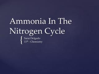 Ammonia In The Nitrogen Cycle